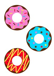 Doughnuts print art