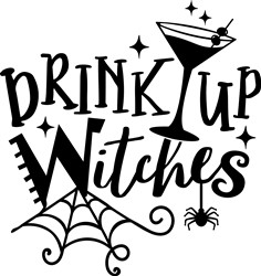 Drink Up Witches print art