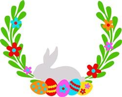 Bunny Wreath print art