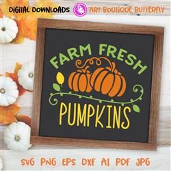 Farm Fresh Pumpkins print art