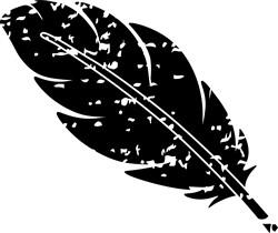 Grunge Feather print art