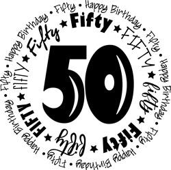 Fifty print art