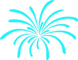 Fireworks print art