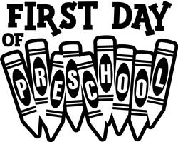 First Day Preschool print art