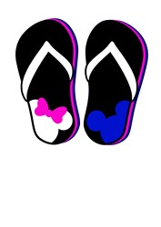 Disney Flip Flops print art