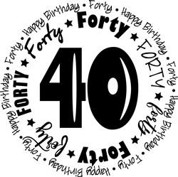 Forty print art