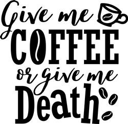 Coffee Or Death print art