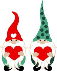 Valentine Gnomes print art