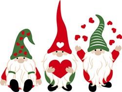 Gnomes & Hearts print art