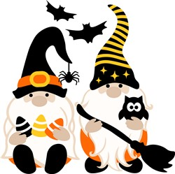 Halloween Gnomes print art