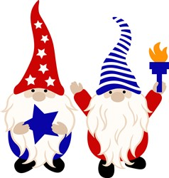 Patriotic Gnomes print art