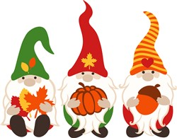 Fall Gnomes print art