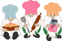 Chef Gnomes print art