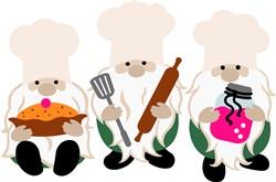 Gnome Cooks print art