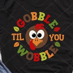 Gobble Til Wobble print art