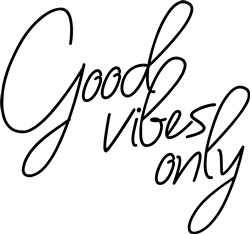 Good Vibes Only print art