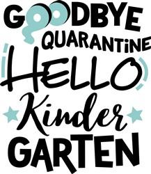 Hello Kindergarten print art