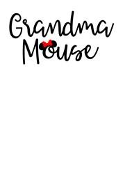 Grandma Mouse print art
