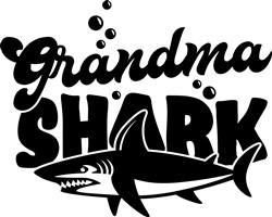 Grandma Shark print art