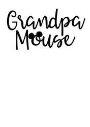 Grandpa Mouse print art