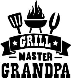 Grill Master Grandpa print art