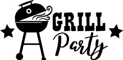 Grill Party print art