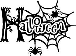 Halloween Spiders print art