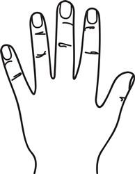 Outline Hand print art