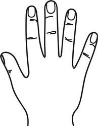 Hand Outline print art