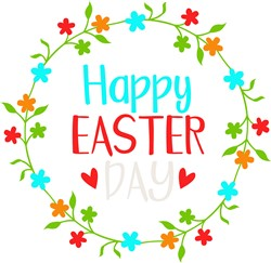 Happy Easter Day print art