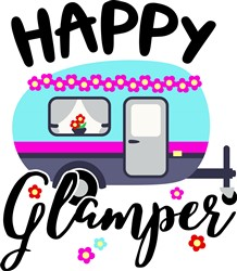 Happy Glamper print art