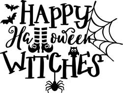 Happy Halloween Witches print art