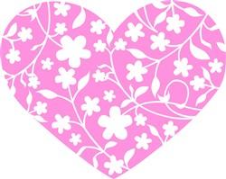 Floral Heart print art