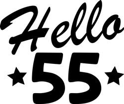 Hello 55 print art