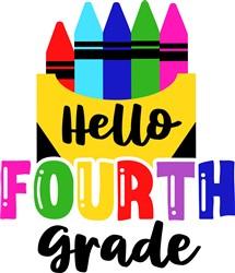 Hello Fourth Grade print art