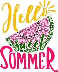 Hello Sweet Summer print art