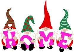 Gnome Home print art