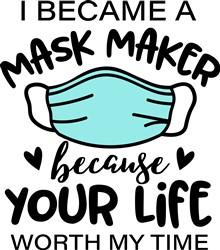 A Mask Maker print art