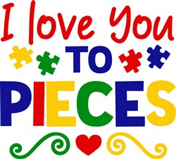 Love You To Pieces print art