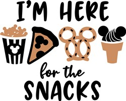 Here For The Snacks print art