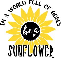 Be A Sunflower print art