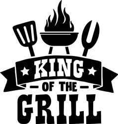 King Of Grill print art