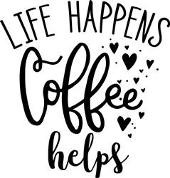 Coffee Helps print art