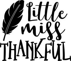 Little Miss Thankful print art