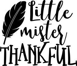 Little Mister Thankful print art