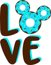 Love Mickey Donut print art