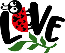 Love Lady Bug print art