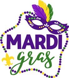Mardi Gras print art