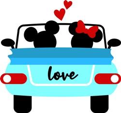 Mickey Loves Minnie print art