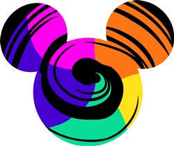 Colorful Mickey print art